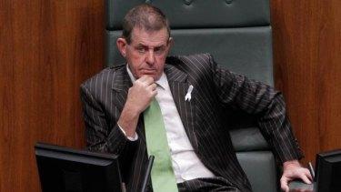Peter Slipper in the Speaker's chair yesterday.