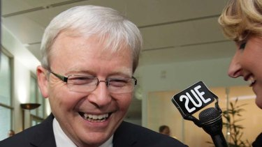 Back in favour ... Kevin Rudd.