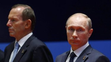 Australia's relationship with Russia has been strained after Prime Minister Tony Abbott led condemnation of Mr Putin's intervention in Ukraine after Malaysia Airlines flight MH17 was shot down.