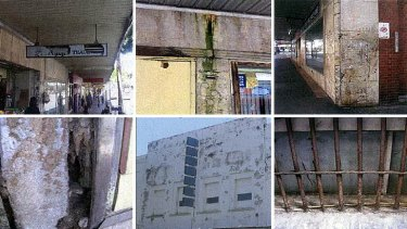 Examples of disrepair at the Waltons building.