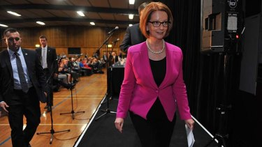'I doubt we're going to end up agreeing': Prime Minister Julia Gillard.