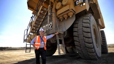 Leighton boss Wal King on a visit to a mine in the Gobi desert.
