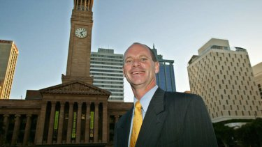 Campbell Newman after his 2004 election as Lord Mayor.
