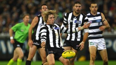 Dale Thomas in action against Geelong last week.