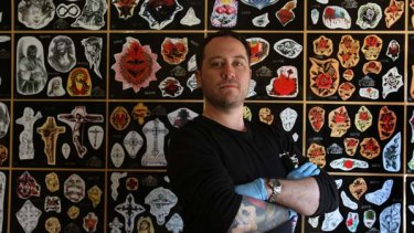 Les Rice a painter who makes his income as a tattooist.