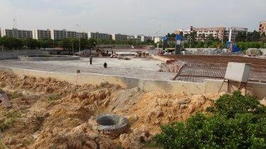 Guangzhou skate park in development.
