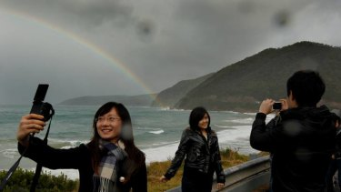 The Great Ocean Road is a popular holiday spot for Chinese tourists.
