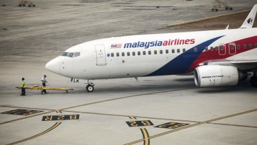 Flights continue ... A Boeing 737-800 aircraft operated by Malaysian Airlines is prepared for take off at Kuala Lumpur International Airport (KLIA) in Sepang, Malaysia.