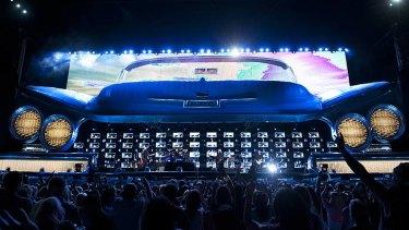 Suncorp Stadium gets a taste of Americana for Tuesday night's Bon Jovi concert.
