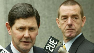 Former Liberal staff member Ian Hanke with then Workplace Relations Minister Kevin Andrews in 2005.