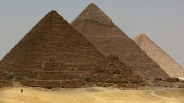 The pyramids in Egypt.