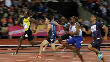 Just enough: Bolt picked up in the second half of the race after a poor start.