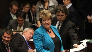 Examined by stethoscope ... Health Minister Jillian Skinner.