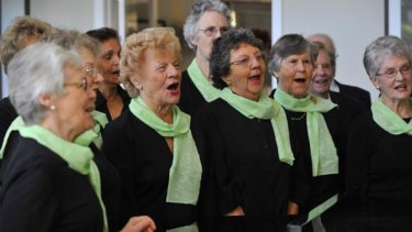 The Hawthorn U3A choristers sing the wobbles away.