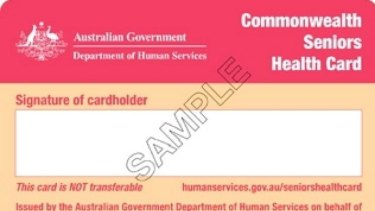 Commonwealth Seniors Health Card.