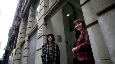 New team: Anna Schwartz and Melissa Loughnan have discovered lots of synchronicities.