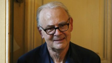 """""""1 metre 90 of shyness and candour"""": French writer Patrick Modiano in Paris after he was declared winner of the Nobel prize in literature."""