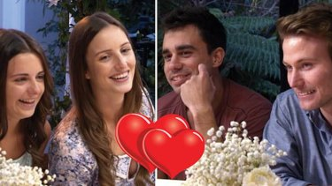 Love in the air? ... <i>MKR</i>'s publicity team goes into overdrive with this Facebook image.