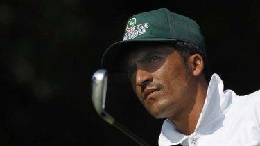 Big dreams ... Afghani golfer Ali Ahmad Fazel in action during the Asian Games.