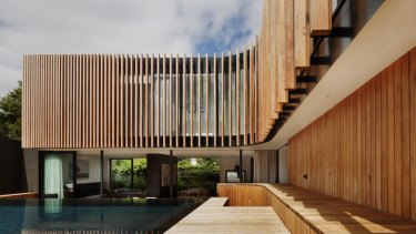 Weian Lim, 26, from Matt Gibson Architecture + Design, won the inaugural Young Architect category for his work on the design team of this home in Armadale.