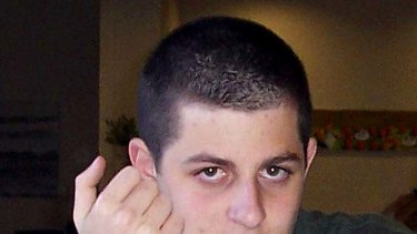 Free again ... Gilad Shalit pictured before he was captured.