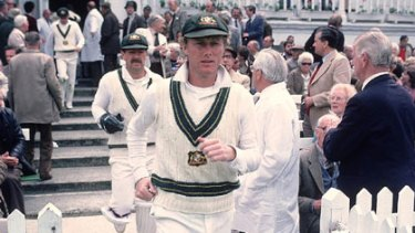 Highs and lows ... Kim Hughes leads the team out in the 1981 Ashes series.