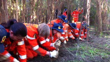 Police and SES search for clues for Daniel Morcombe.