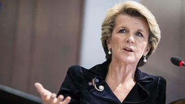 Urging caution: Foreign Minister Julie Bishop.