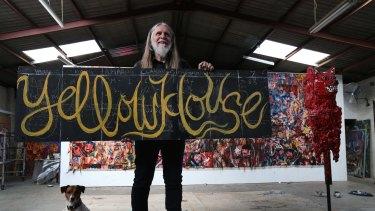 Artist George Gittoes in his Arncliffe studio.