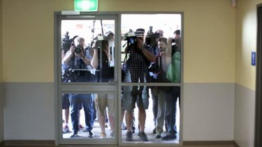 Media outside a GP superclinic in Darwin. Prime Minister Kevin Rudd criticised the NT government for refusing permission for the media to enter the clinic during his visit.