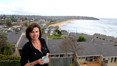 Summer cash … Michelle Lowery rents out her home at Freshwater on the northern beaches during holidays.