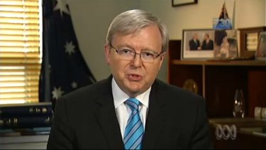 Prime Minister Kevin Rudd: Moving to a floating price on carbon on July 1 next year