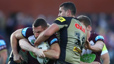 Memorable comeback: The Panthers put on 27 points in 29 minutes to beat the Sea Eagles.