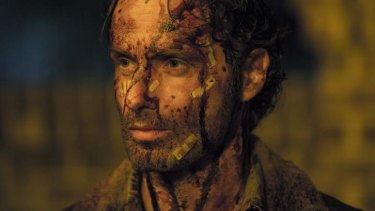 Bloody Rick: He didn't let the walkers in to Alexandria but Rick (Andrew Lincoln) sure knew what to do once they arrived.