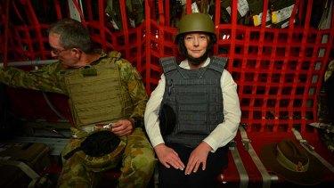 Surprise visit ... Julia Gillard.