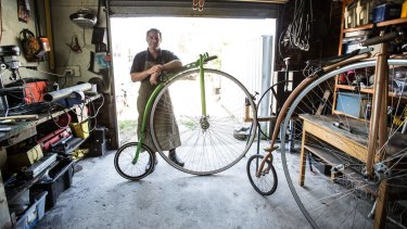 Dan Bolwell is Australia's only full-time penny farthing maker. He crafts the works of art from his garage in Horsham.