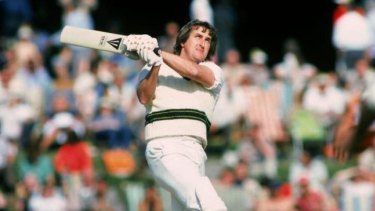 Big hitter: Gary Gilmour in action in England in 1980.