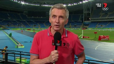Bruce McAvaney on duty at the Rio Olympics.