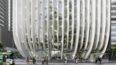 White latticework would be the building's standout feature, and its one-bedroom units would be 50 square metres in size.
