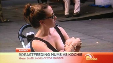 Sunrise's great breast feeding debate