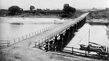 The Windsor Bridge circa 1888.