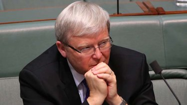 Kevin Rudd: Pondering a fresh leadership challenge?