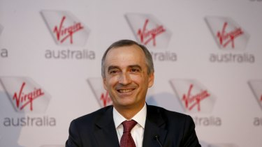 Virgin chief executive John Borghetti said the airline had nearly met its target of 30 per cent of domestic revenue from the corporate market.