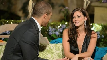 Bachelorette Lisa Hyde with Blake Garvey.