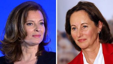 Public spat ... Valerie Trierweiler, left, and Segolene Royal.