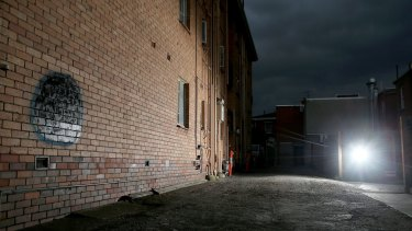 A laneway where Adrian Bayley took one of his victims in Balaclava.