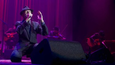 Leonard Cohen performing at the Sydney Entertainment Centre on Saturday, November 16, 2013.