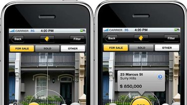 The Commonwealth Bank's Property Guide iPhone app.