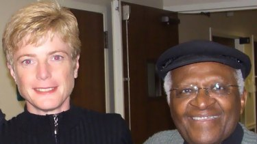 Dr Vanessa Hayes and Archbishop Tutu.