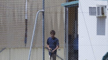 A teenage asylum seeker at the Phosphate Hill Detention Centre, Christmas Island.